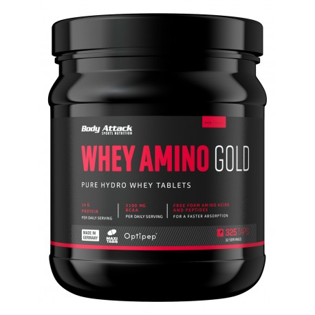 Body Attack Whey Amino Gold 325 Tabletten