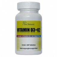 Pro Natural Vitamin D3 + K2 - 180 Tabletten