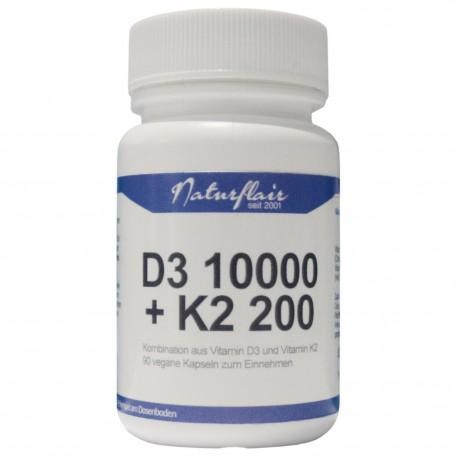 Naturflair Vitamin D3 10000 + K2 200