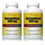 2 x Pro Natural Mariendistel 400 mg