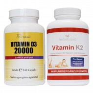 Pro Natural Vitamin D3 - 20000 + Netzeband Vitamin K2