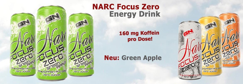 GN Narc Focus Green Apple Energy Drink