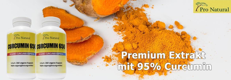 Pro Natural Curcumin 650 - Premium Kurkuma Extrakt